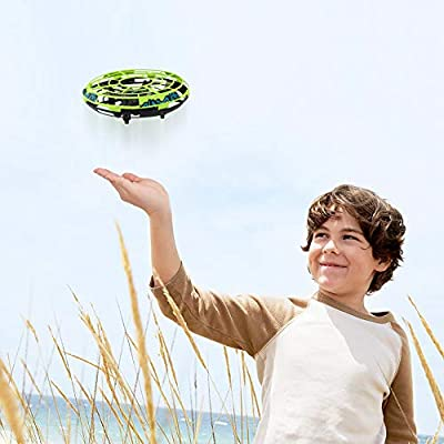 Epoch Air UFO Mini Drone, Kids Toys Hand Controlled Helicopter RC Quadcopter Infrared Induction Remote Control Flying Toys Xmas Aircraft Gifts for Boys Girls Adults Indoor Outdoor Ball Toys Green
