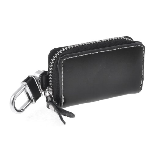 sourcingmapr-mini-nero-finta-pelle-cerniera-chiusura-auto-chiave-portafogli-trasporto-ing-bag