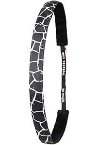 Ivybands® | Das Anti-Rutsch Haarband | Giraffe's Black&White Print | 1,6cm Breit | One size | IVY717