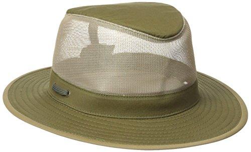 Henschel Weiche gebürstete Baumwolle Aussie Breezer Hat, damen Herren, olivgrün (Aussie Hut Baumwolle)