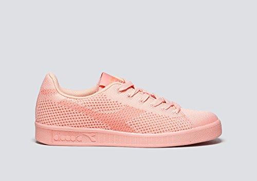 Diadora Game Weave, Baskets Basses Pour Homme Peach Pink