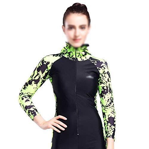 Schnorchel Neoprenanzug, Sonnenschutz Mutter Kleidung Anzug Wetsuit Surf Bekleidung Tauchanzug Sonnenschutzkleidung (Color : Green, Size : XL)