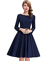 4b5b7c3689d Solid American Crepe Shiny Full sleeve Party wear waist Belt Knee Length  Dress for Girls Womens