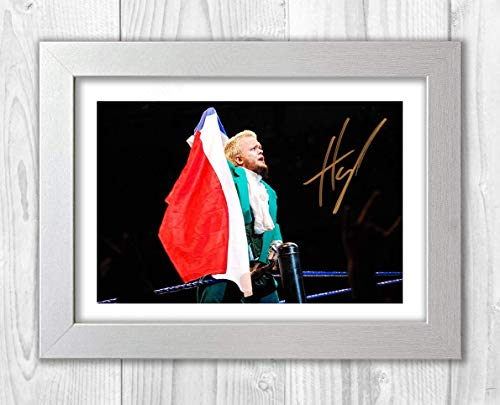Engravia Digital Hornswoggle WWE Poster Signed Autograph Reproduction Photo A4 Print(White Frame)
