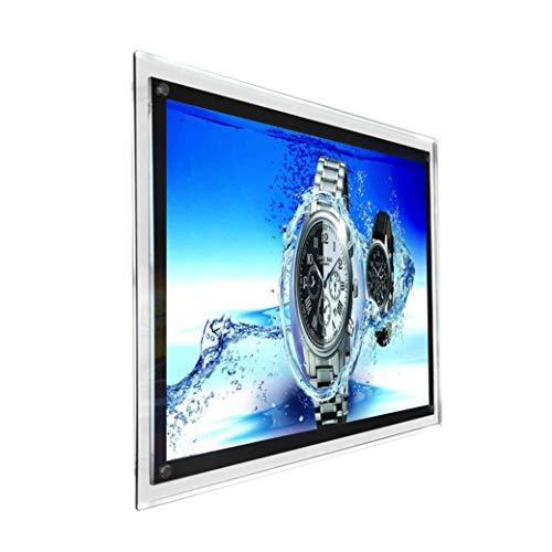 A1LED Kristall Bilderrahmen Werbung Display für Wand montiert Sign Halter -