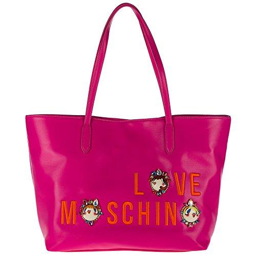 Love Moschino sac de courses femme fucsia