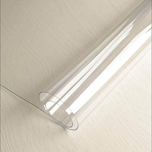 HHCQY PVC Wasserdichte Doppelseitige Transparent Tischset, Weiches Glas Couchtisch Matte Einweg Öl-Beweis Rechteckigen Pad Dicke 2.0MM (Farbe : Clear2.0mm, größe : 130 * 80cm)