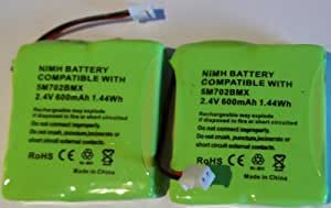 2 x UK Replacement Batteries for BT Verve 450 410 Cordless Phones 5M702BMX 2.4V 600mAh NiMH Single Twin Trio Quad