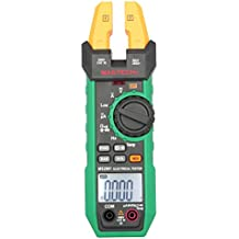 MASTECH Digital LCD Pinza Amperimétrica Multímetro de DC / AC Voltaje Corriente Resistencia Capacidad Diodo Frecuencia Probador de la Temperatura Auto / Manual Alcance