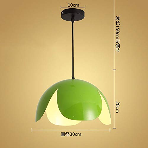 ZHANG NAN ● * Pendelleuchte Kronleuchter Restaurant Licht Büro Einfache Kreative Persönlichkeit Modern Green 9 Watt Led 30 * 20 cm ●