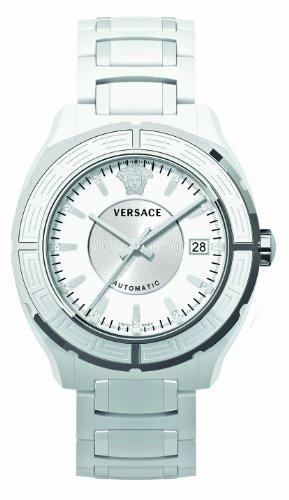Versace 02ACS1D001 SCO1 - Reloj analógico de cuarzo para mujer, correa de cerámica color blanco