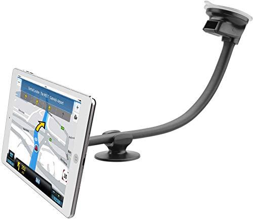 APPS2Car Tablet-Autohalterung mit Schwanenhals, Verstellbarer Langer Arm, universeller magnetischer Saugnapf für Tablets, 2-in-1-Handyhalterung