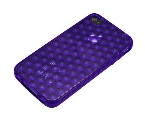 Xcessor Bubbles TPU Schutzhülle für Apple iPhone 4 und 4S Blue / Transparent Purple / Transparent