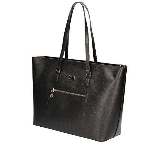 Patrizia Pepe Candy Cadillac Shopper Tasche Leder 37 cm nero