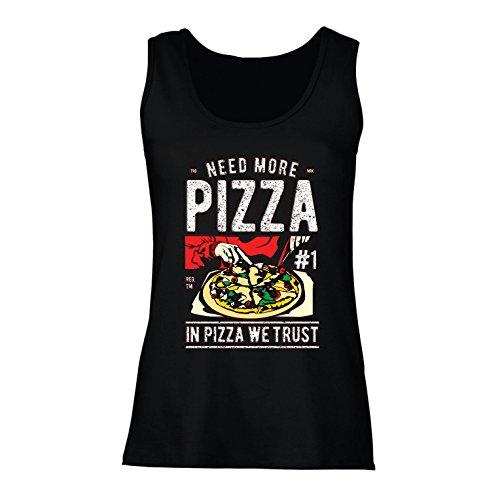 lepni.me Damen Tank-Top In der Pizza Vertrauen wir - lustiger Pizzaliebhaber Zitat, italienisches Spaß-Geschenk (XX-Large Schwarz Mehrfarben)