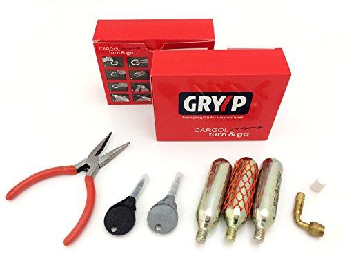 Kit reparapinchazos GRYYP Cargol para reparación de pinchazos en neumaticos tubeless de...