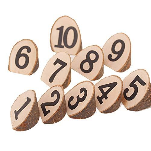 Set 1-10 Zeichen Hochzeit Kunsthandwerk Wand Party Dekorative Holz Scheibe Runde Valentinstag Mittelstücke Ornamente DIY Projekte Tabellen Sitze Hängen(A) ()