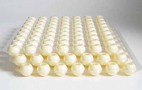 Schokoladen Trüffel Hohlkugeln - Praline Hohlkörper weiss - 3 Set 189 Stück
