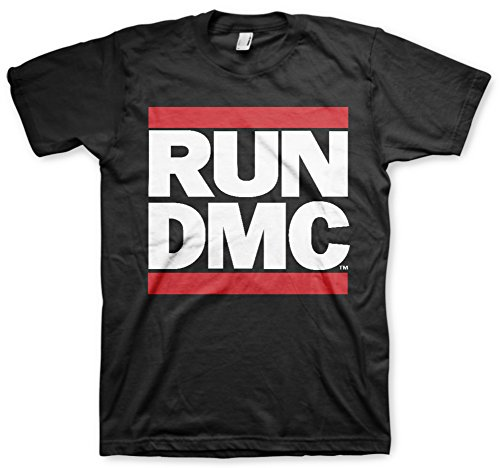 Run Dmc Logo Tee T Shirt T-Shirt Merchandise Merch(Black,M)