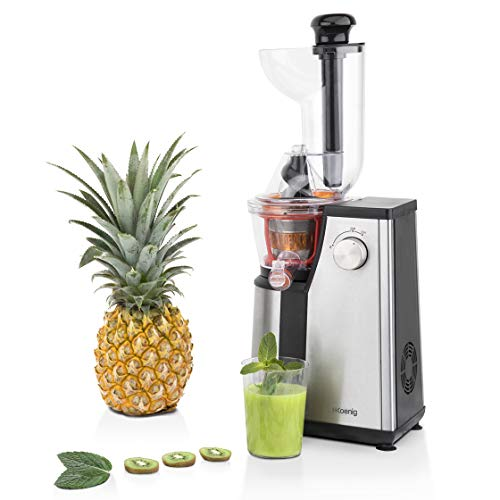 H.Koenig GSX18 - Licuadora para fruta y verdura de prensado en frio, extractor de jugos vertical, 400...