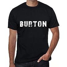 One in the City Burton Hombre Camiseta Negro Regalo de Cumpleaños 00554