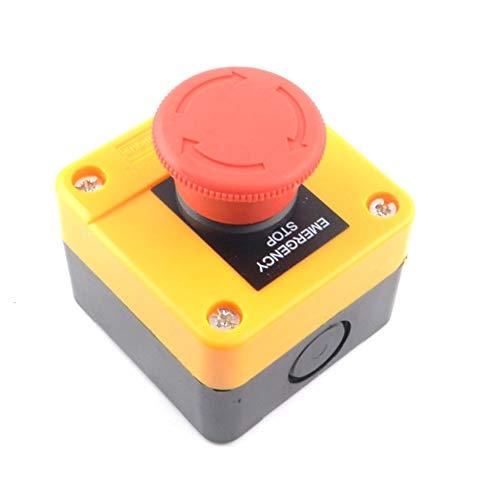 Not-Aus-Schalter für Grubenheber normalerweise offen und normalerweise geschlossen gelb