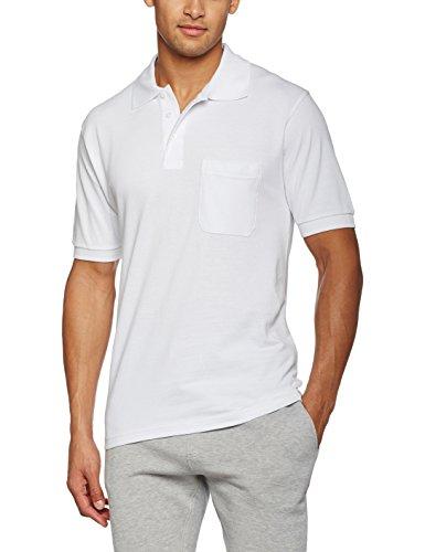 James & Nicholson Herren Poloshirt Weiß (White)
