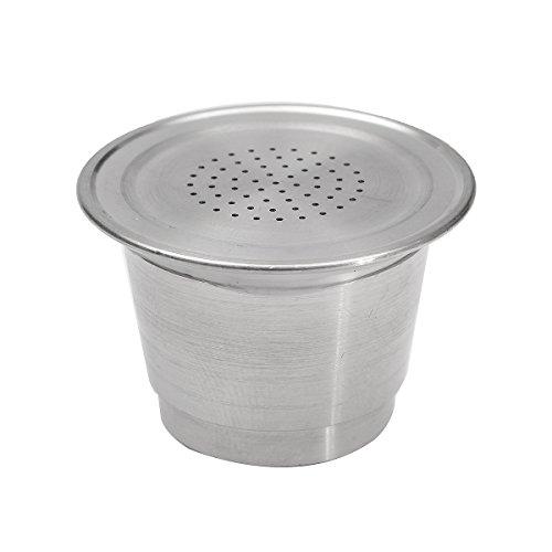 ZHENWOFC Wiederverwendbare, nachfüllbare Kaffeekapsel-Schale aus Edelstahl für Nespresso-Maschinen Hardware-Ersatzteile