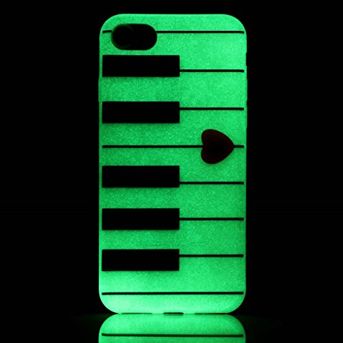 iPhone 7 / iPhone 8 Hülle, SATURCASE Schönes Muster Leuchtend Fluoreszierend Ultra Dünn Weich TPU Gel Silikon Schützend Zurück Case Cover Handy Tasche Schutzhülle Handyhülle Hülle für Apple iPhone 7 / Muster-6