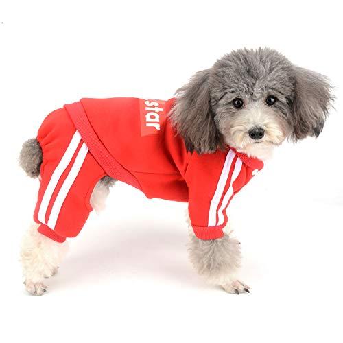 Warmes Wetter Kostüm Kleinkind - Ranphy Hunde-Jumpsuit aus Fleece, warm, mit Kapuze, für den Winter, für Chihuahua, Kleidung für Welpen, Trainingsanzug für Mädchen und Jungen