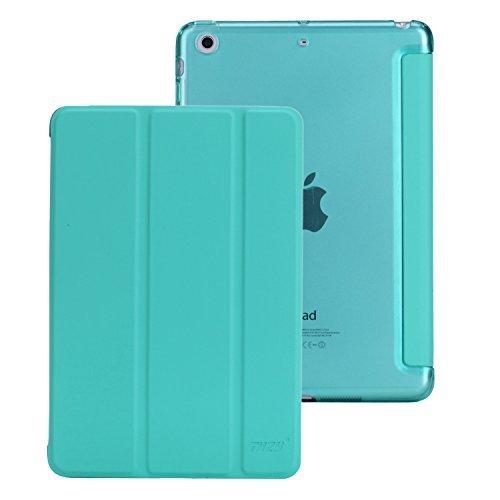 Funda del iPad Mini,THZY cubierta inteligente + transparente de la contraportada(Ultra delgado, ligero, Forro resistente a los aranazos, Perfecto ajuste, Auto de despertador / Funcion sueno)para el iPad mini 3/2/1 - verde menta