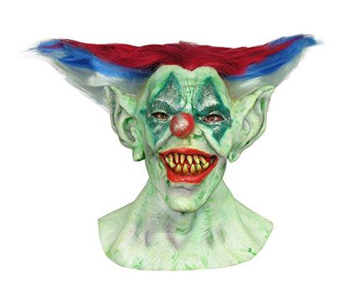 aske Gesicht Maske Kostüm Stütze Scary Creepy Schreckliche Maske Monster Maske Latex Maske Over-the-Head-Maske Clown Maske Erwachsene für Maskerade Make-up Party (Creepy Clown Make Up)