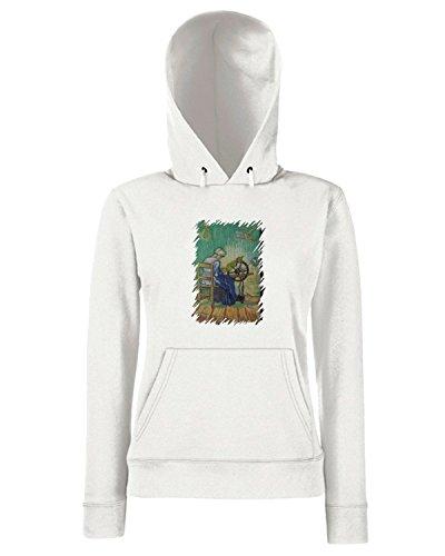 T-Shirtshock - Sweats a capuche Femme TDA0061 van gogh13 la filatrice Blanc