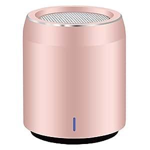 Speaker Bluetooth Usmain Mp3 Player Stereo Altoparlante Portatile Smartphone con Subwoofer, Microphone, Wireless Boombox con uscita AUX, Speaker Mini Portatile per Interno ed Esterno - Oro rosa