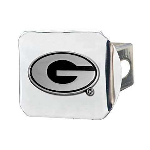FANMATS NCAA University of Georgia Bulldogs Chrome Hitch Cover by Fanmats