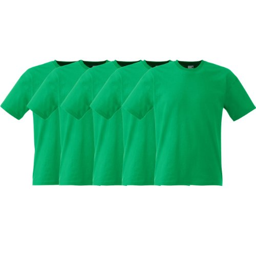 Fruit of the Loom Original Full-Cut T Rundhals T-Shirt F110 5er 10er 15er 20erPack 5x black