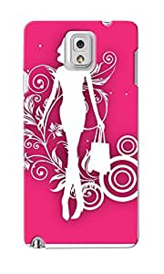 KnapCase Shopping Girl Designer 3D Printed Case Cover For Samsung Galaxy Note 3