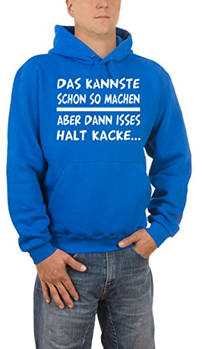 Touchlines Herren Kapuzenpullover Das Kannste So Machen. Blau (Royal 09), XX-Large