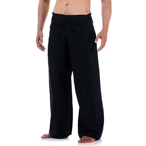 Princess of Asia Thai Fisherman Pants Wickelhose Kung Fu Karate Yoga Hose Schwarz -