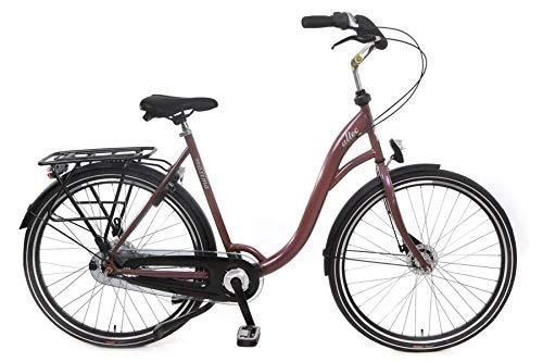 Altec 28 Zoll Damenfahrrad Cityfahrrad Trekking Damen City Fahrrad Rad Bike Trekkingfahrrad Trekkingrad Cityrad Citybike Rollerbremse 7 Gang Nexus Nabenschaltung Beleuchtung Maxima Braun