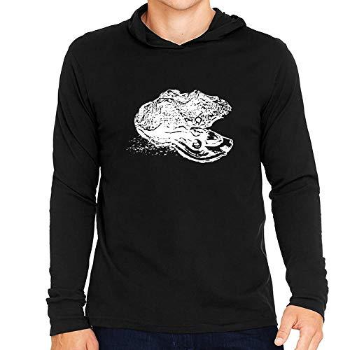 Idakoos Oyster Sketch Kapuze Langarm T-Shirt M -
