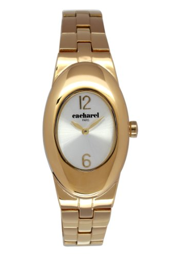 cacharel-cld-1bm-008-womens-quartz-analogue-watch-steel-strap-silver-dial-gold-plated