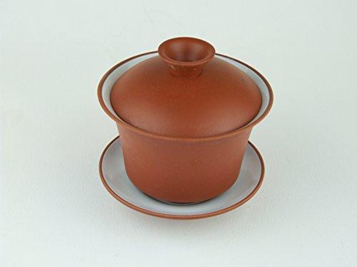 Gaiwain traditionnel chinois Motif sable Violet (Yixing) Argile Pottery Bol avec couvercle pour boire trempage et thé