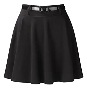 Belted Skater Skirt HB4A Black S/M -9043-(1.99)