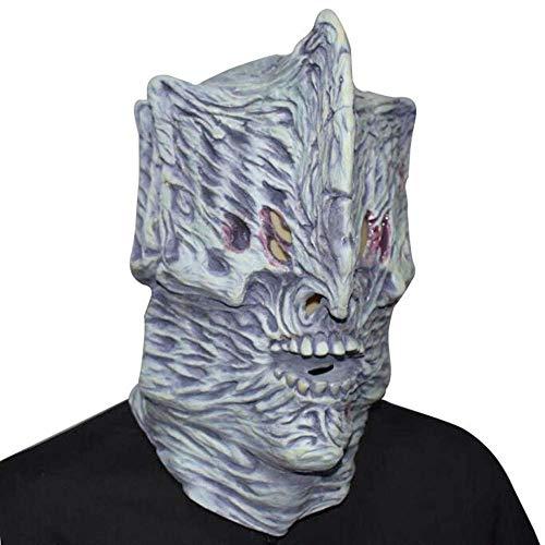 Erwachsene Kostüm Für Kreative Einfach - Kreative Halloween Horror Maske Glowing Hell Night Ghost Maske Alien Head Set Latex Weihnachtsmaske