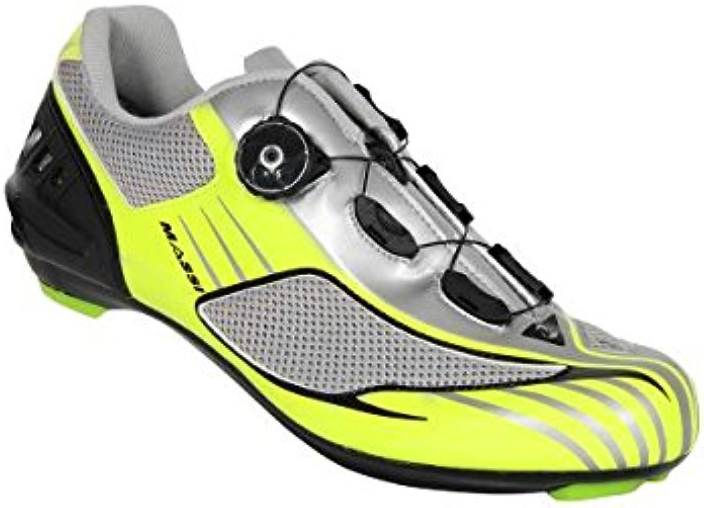 MASSI Aria   Straßenrennradschuhe Unisex  Farbe Neon/grau  Größe 44