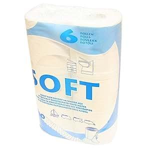 Fiamma 301/051 Article de camping Soft 6 Lot de 6 rouleaux de papier toilette