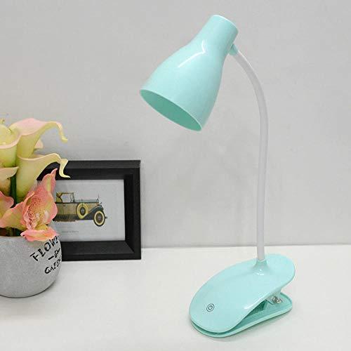 Die neue Leitung zur Tischleuchte Kreative Einfache Studentin Kinderaugenschutz Leselampe Nachtlicht USB Lade Klapp Nachttischlampe blau -