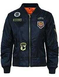 Kids Girls Boys Badges MA1 Bomber Jacket Children Pilot Military Coat Harrington
