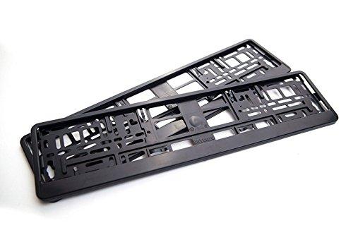 Kennzeichenhalter schwarz passend für deutsche EU standard Kennezichen 520 x 110 mm , 2 Stück NEU